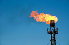 Recovering flared gas reserves